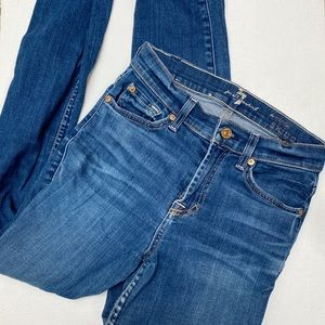 7 for All Mankind mid rise skinny jean size 25
